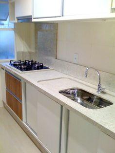 Cozinha; kitchen; granito branco siena