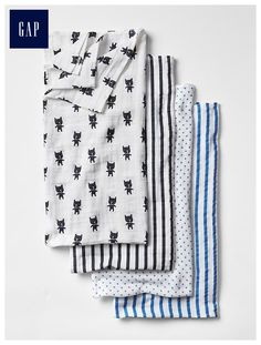 babyGap x aden   anais® print swaddle blanket (4-pack) - Lightweight and breathable muslin keeps baby warm and comfy without overheating. Soft fabrics get softer with age.