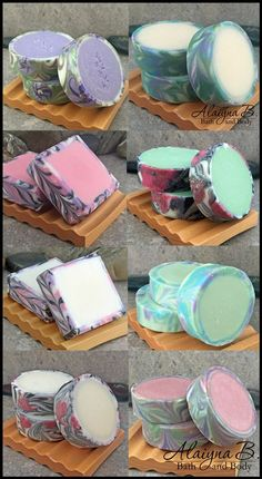 Alaiyna B. Bath and Body: Collection of Rimmed Cold Process Soaps. Beautiful…