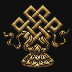 "Tibet Endless Knot, Lotus Flower, Buddhism, Eternal Knot"" T-Shirts ..."