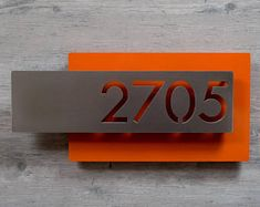 f3434d2fd60 CUSTOM Mission Style Vertical House Numbers in Rusted Steel