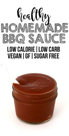 Healthy Barbecue Sauce! (Low-Carb, Low-Calorie, Sugar-Free, Vegan, Gluten-Free, Oil-Free)