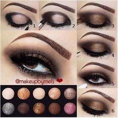 Eye Makeup Tips.Smokey Eye Makeup Tips - For a Catchy and Impressive Look Beauty Make-up, Beauty Hacks, Fashion Beauty, Skin Makeup, Makeup Eyeshadow, Eyeshadow Palette, Gray Eyeshadow, Maybelline Eyeshadow, Makeup Looks