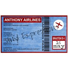 Air Plane Party Invite from Vinyl Expressions for $10.00