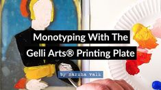 Monotyping With The Gelli Arts® Printing Plate Gelli Arts, Gelli Printing, Mixed Media, Plates, Crafty, Art Prints, Youtube, Tutorials, Ideas