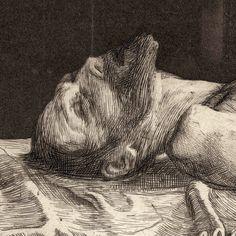 "Prints and Principles: Käthe Kollwitz's etching, ""Zertretene"" Encaustic Painting, Painting & Drawing, Painting Prints, Figure Drawing, Paintings, Kathe Kollwitz, Drypoint Etching, Etching Prints, Engraving Art"