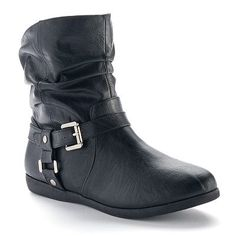SO® Women's Harness Slouch Ankle Booties