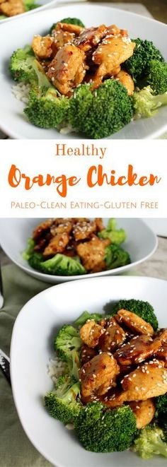 Skip the takeout and make this Healthy Orange Chicken for dinner! A simple, delicious dinner that is paleo friendly and done in under 30 minutes!