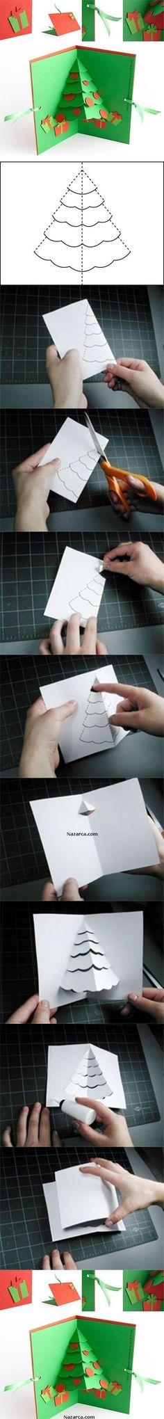 Christmas tree pop up card