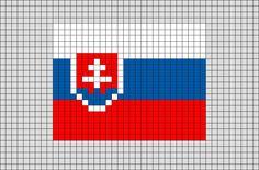 Flag of Slovakia Pixel Art from BrikBook.com #Slovakia #FlagofSlovakia #Europe #SlovakRepublic #Slovak #pixel #pixelart #8bit Shop more designs at http://www.brikbook.com