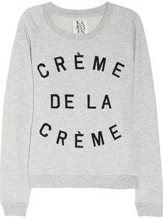 How fun are these Zoe Karssen sweatshirts on Net-A-Porter? Perfect for weekend brunch in your jeans and sneaks. Crème de la Crème/ Oh La La