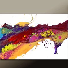 Abstract Canvas Art Painting 36x24 Original Modern by wostudios, $129.00