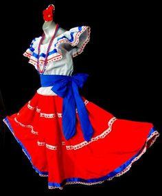 Puerto Rico Flag Dress ..''Bomba y Plena'' style..