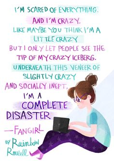 SHARING MOMENT GUYS: So, last month I asked people at my book club (yes, I am this brand of loser) if they would like to read Fangirl by Rai...