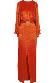 Temperley LondonFaye embellished silk-jacquard gown