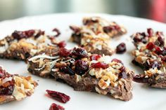 Day 12: 21 Day Detox with a Quick, Easy, Pecan, Cranberry, and Toasted Coconut Bark - Not Quite a Vegan