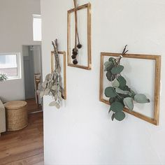 Flower Wall, Flower Pots, Greenery Decor, Hanging Herbs, Floral Room, Shelf Furniture, Boho Diy, Cafe Interior, Dried Flowers