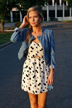 B SOUP Bethany wearing DV by Dolce Vita Adisa Cutout via Social Dress Shop