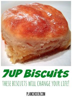 Biscuits - THE BEST biscuits EVER! We make these at least twice a week. - Biscuits – THE BEST biscuits EVER! We make these at least twice a week. So quick and easy! Biscuit Bread, 7 Up Bread, Bread Rolls, Amish Bread, Yeast Rolls, Bread Board, Bread Baking, Le Diner, Sweet Bread