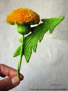 crochet dandelion tutorial | CraftIdeaPin.com