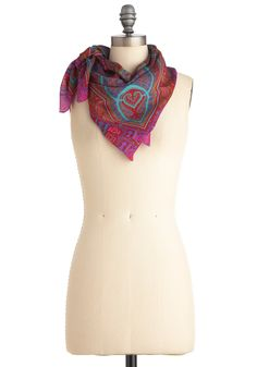 Vintage Ready to Win-dow Scarf, #ModCloth