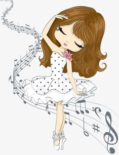 Music girl picture material, Music, Dancing, Dance PNG and PSD Cartoon Cartoon, Female Cartoon Characters, Cute Cartoon Girl, Cartoon Ideas, Cartoon Wallpaper, Girl Pictures, Cute Pictures, Chibi, Cute Illustration