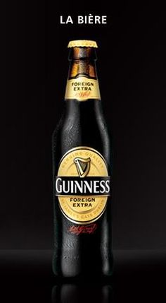 La Guinness est une bière irlandaise fabriquée par la brasserie d'Arthur Guinness depuis 1759. Bière de légende, la Guinness est une stout, dont le goût prononcé a su convaincre bon nombre de consommateurs de par le monde… Bière sombre et épaisse, elle se distingue des autres bières grâce à sa mousse blanche onctueuse, ainsi que par ses arômes caramélisés forts.