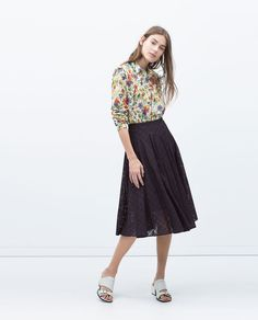 ZARA - WOMAN - CHECK SKIRT