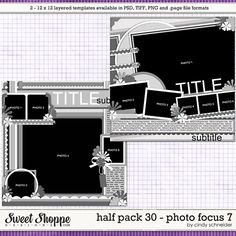 Cindy's Layered Templates - Half Pack Photo Focus 7 by Cindy Schneider