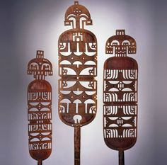 Africa | Carved wood Taureg Tent Pole or Post - Niger