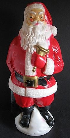 santa father christmas retro christmas santa christmas vintage holiday antique christmas - Vintage Plastic Outdoor Christmas Decorations