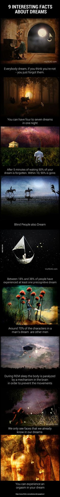 9 interesting facts about dreams. I have experienced the last one. Strangest experience ever...