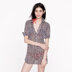 Herringbone stripe tunic