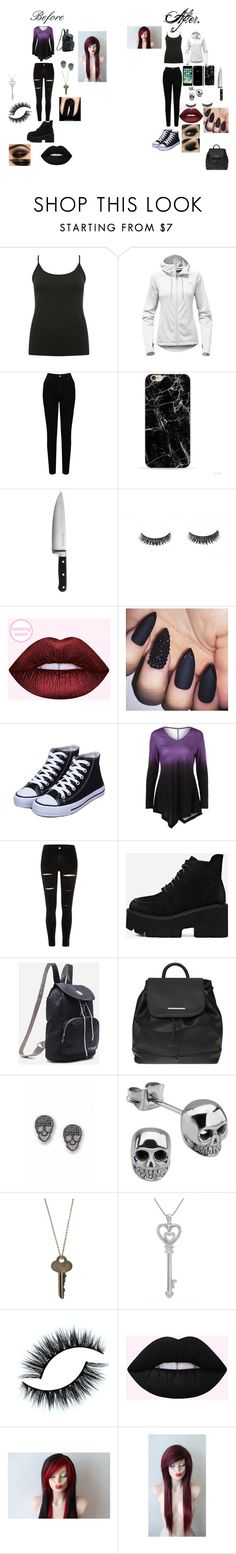 """""""Jeff the killer's little sis. (My OC)"""" by meckenzienielsen on Polyvore featuring M&Co, The North Face, EAST, KitchenAid, River Island, Dorothy Perkins, The Giving Keys and Amanda Rose Collection"""