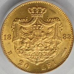20 lei 1883 Gold Money, Gold And Silver Coins, World Coins, Teaching History, Bucharest, Coin Collecting, Romania, Bronze, Geography