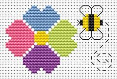 Sew Simple Flower & Bee cross stitch kit from Fat Cat Cross Stitch Finished size approx 8.5cm x 5.5cm. Kit contains 11ct white aida fabric, stranded embroidery cotton, needle, colour chart and instructions. A brand new kit will be sent directly to you by Fat Cat Cross Stitch - usually within 2-4 working days © Fat Cat Cross Stitch