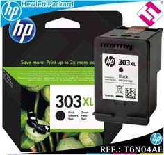 TINTA NEGRA 303XL ORIGINAL IMPRESORAS HP ENVY PHOTO CARTUCHO NEGRO T6N04AE Tinta Hp, Hewlett Packard, Ink, The Originals, Printers, Black People