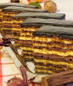 Prăjitură Physha, foi cu miere și cacao, cremă de vanilie și glazură de ciocolată – Chef Nicolaie Tomescu Sweets Recipes, Cake Recipes, Oreo Dessert, Sweet Cakes, Ice Cream Recipes, Mini Cakes, Vegan Desserts, Chocolate Recipes, Food To Make
