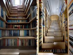 Creative bookcase meets staircase