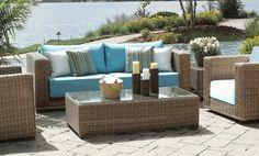 Outdoor Patio Wicker Furniture via @wickerparadise #outdoor #patio #wicker #furniture #outdoorliving www.wickerparadise.com
