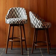 Love these for barstools- maybe could mix w/ solid color? Saddle Bar + Counter Stool - Slate #westelm