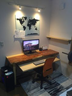 This completes my workstation..for now at least. The world map functions as a magnet board that can also be drawn on like a white board.
