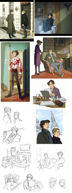 Some gorgeous, rather Disney-fied Sherlock fanart. I think this is probably my most favourite of all the fanarts Ive seen.