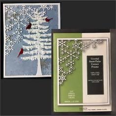 Crystal Snowflake Corner Frame metal die by Poppystamps dies 1550