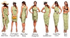 ways to wear a sarong