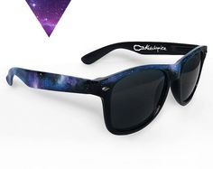Sunglasses - Space Galaxy Nebula Custom Wayfarer style sunglasses retro hand painted from ketchupize on Etsy.