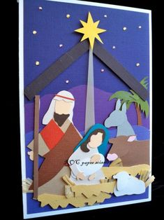 Born in Bethlehem - ROC Paper Scissors Christmas Tree Festival, Christmas Hanukkah, Christmas Nativity, Christmas Crafts For Kids, Holiday Crafts, Christmas Greeting Cards, Christmas Greetings, Christmas Bulletin Boards, Office Christmas Decorations