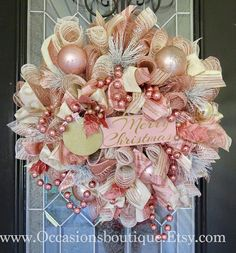 Check out our pick of Christmas door decorations! We have all sorts of Christmas door wreaths, so you will definitely be able to find the best one. Rose Gold Christmas Decorations, Xmas Decorations, Rose Gold Christmas Tree, Christmas Door, Christmas Crafts, Etsy Christmas, Christmas Movies, Christmas Holidays, Christmas Wreaths For Front Door