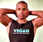 Bodybuilder, Kenneth G Williams, proudly showing his vegan pride on his shirt
