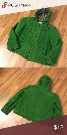 Mossimo green jacket Green casual jacket with zipper front and 3 toggle buttons. Front pockets and drawstring hood. Cotton with polyester fill. Mossimo Supply Co Jackets & Coats